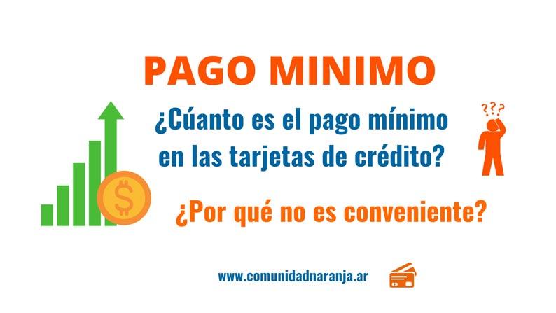pago minimo tarjeta naranja